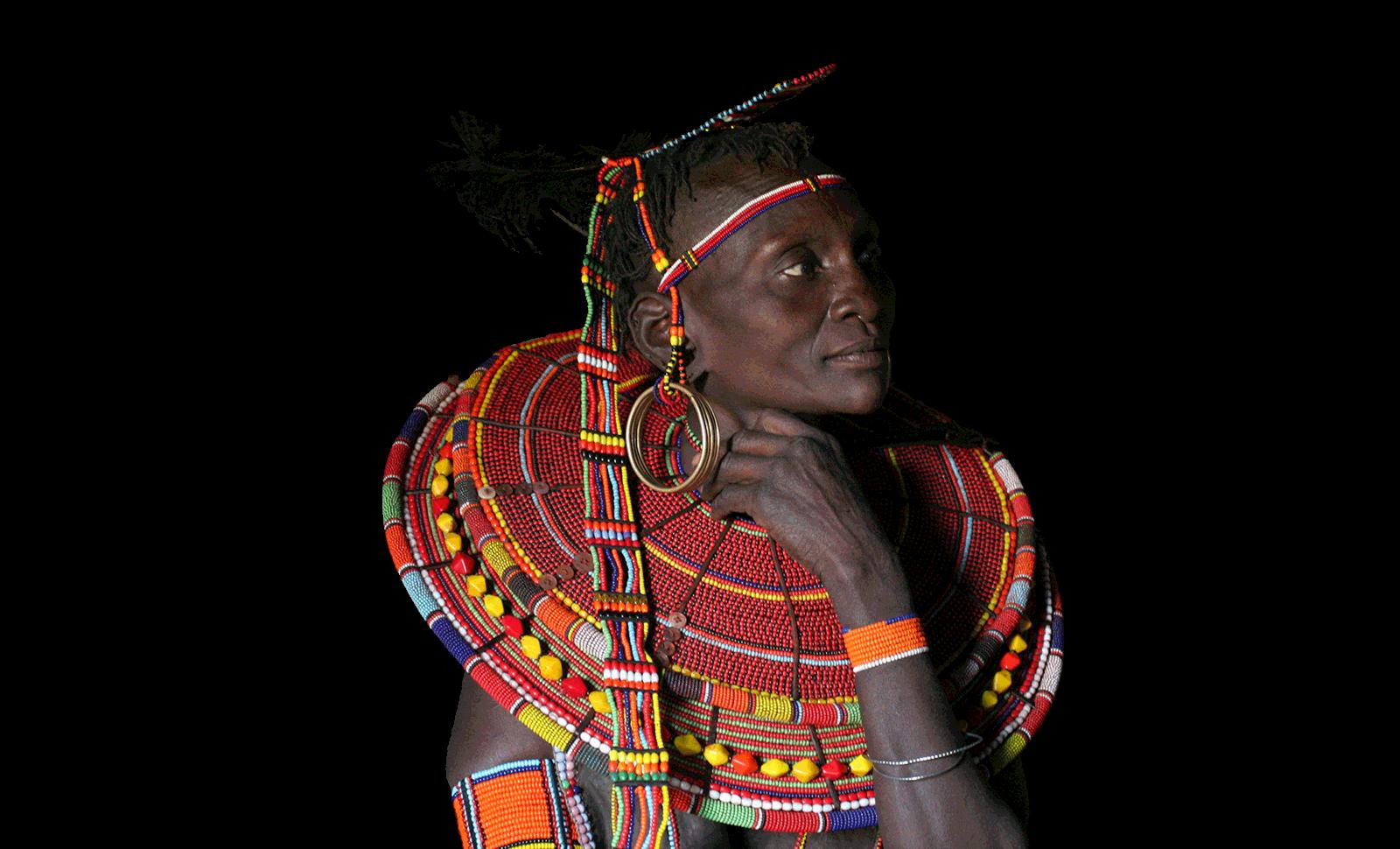 Masai old woman
